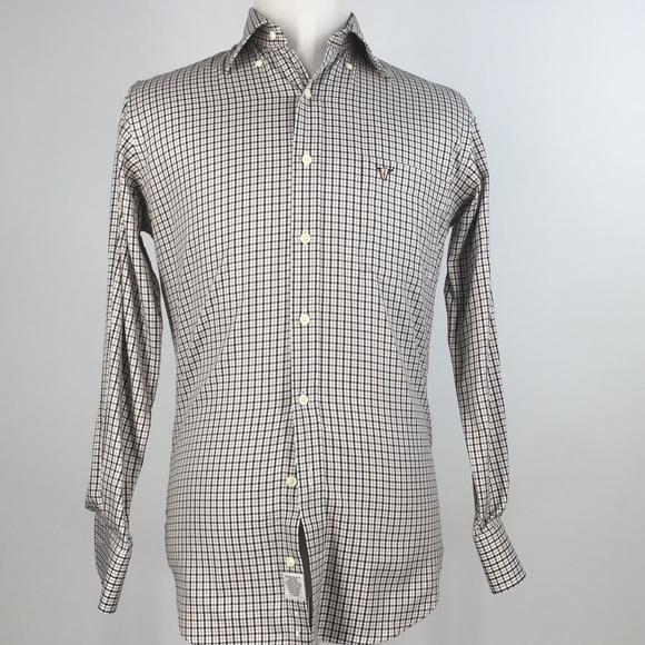 ef15dd10 Peter Millar Shirts | Peter Millar Mens Easy Care Shirt Size M Brown ...
